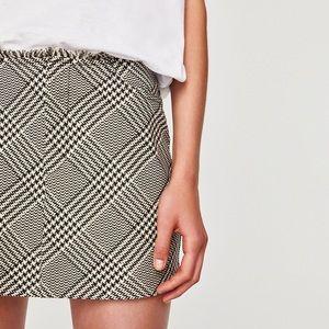 Zara checked mini skirt